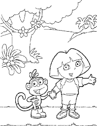dora coloring pages for kids printable coloring home