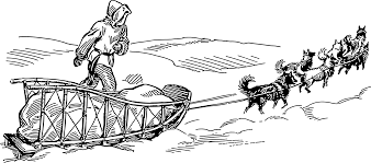black and white thanksgiving clipart dog sled clipart yafunyafun com