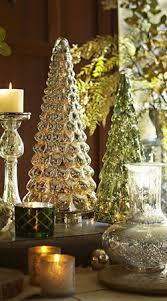silver and green mercury glass trees bebe u0027 so glittering