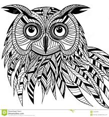 owl bird head as halloween symbol for mascot or emblem design s