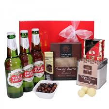 Mens Gift Baskets Gift Wrapped Up Deluxe Mens Gift Hamper Stella Artois Gift