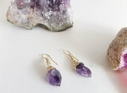 dipped in gold amethyst earrings dipped in gold aingeelzjewelry