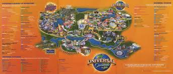 Greater Orlando Area Map by Universal Orlando Resort 2011 Map Theme Park Maps
