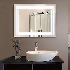 Retractable Mirror Bathroom Touch Light Bathroom Mirror Bathroom Mirrors