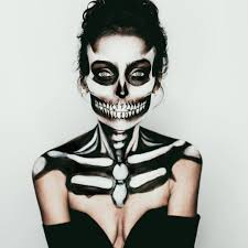 skeleton faces halloween jill marie m u a on instagram u201cthis halloween makeup i did on