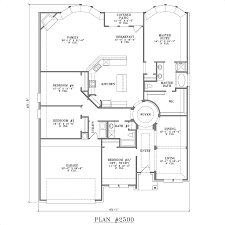 Floor Plans For One Story Homes New One Story 4 Bedroom House Floor Plans Style Home Design Fancy