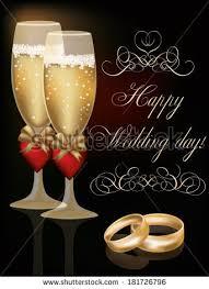 happy wedding day happy wedding day greeting card vector stock vector 181726796