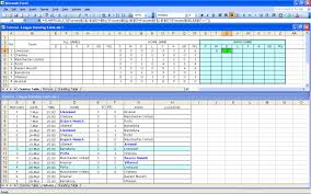 Excel Spreadsheet Tutorials Create Your Own Soccer League Fixtures And Table Excel Templates