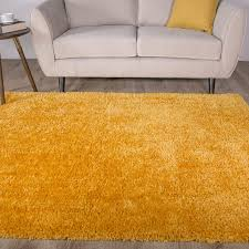 luxuriously soft mustard fluffy shaggy rug kukoon