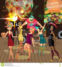 halloween party vector invitation card with creepy house stock