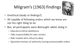 Blind Obedience To Authority Foundations In Psychology Ppt Download
