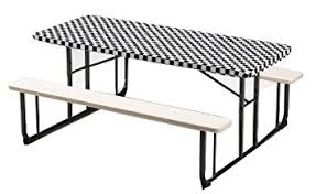 stay put table covers amazon com creative converting plastic stay put banquet table cover