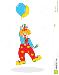 clown baloons flying clown with balloons illustration stock images image