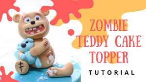 bakeaboo how to make halloween cake 3d topper adorable zombie