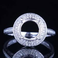 real diamond engagement rings 8mm solid 14k white gold real diamonds semi mount engagement