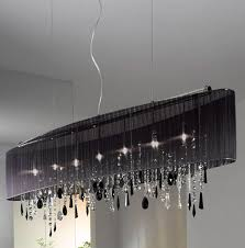 Chandelier With Black Shade And Crystal Drops Chandelier Black Shade Crystal Drops Azontreasures Com