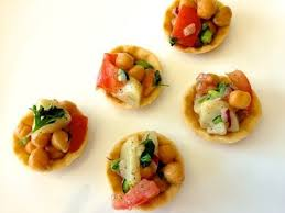 indian canapes ideas aloo chana chaat recipe healthy indian snacks