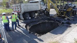 Television Repair San Antonio Texas West Side Road Collapses Week After Massive Sinkhole Killed Deputy