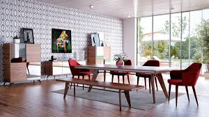Walnut Dining Room by Modrest Kennedy Modern Walnut Dining Table