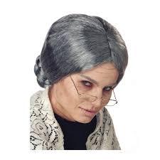 buy grandma wig old lady gray braided bun wig cappel u0027s cincinnati