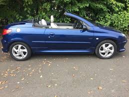 2005 peugeot 206 convertible 3dr petrol manual low miles good