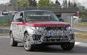 range rover pickup range rover sport facelift spied throttle blips