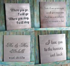 gift custom metal quote sign and sayings