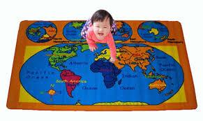 Kids Playroom Rug Amazon Com Kids Rug World Map Area Rug 5 U0027 X 7 U0027 Children Area Rug