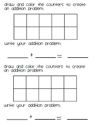 addition blank addition worksheets kindergarten free math