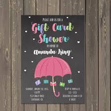 gift card wedding shower invitation wording sle ideas gift card shower invitation black color background