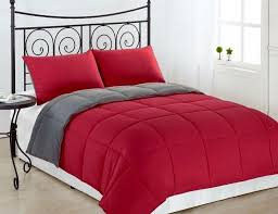 goose down alternative luxurious reversible comforter full queen