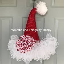 dt santa hat door hanger 2017 by wreaths and things by tracey