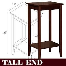 rosewood tall end table coffee brown amazon com dhp rosewood tall end table simple design multi