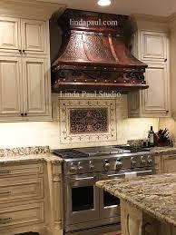kitchen backsplash metal medallions homes design inspiration
