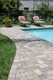 pavers around a pool more expensive than poured concrete but no