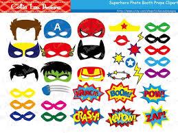 superhero photo booth props diy printable superhero masks