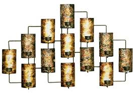 Gold Wall Sconce Candle Holder Amazon Com Aged Gold Metal Votive Candle Holder Wall Decor Home