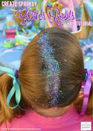 sparkly hair sparkly glitter roots hair tutorial