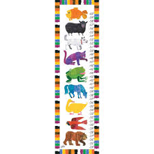 eric carle invitations eric carle animals canvas growth chart walmart com
