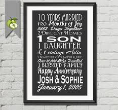 10th wedding anniversary gifts 10th anniversary gift tenth anniversary gift husband 10th