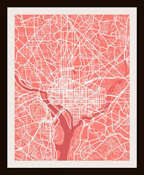 Map Art Washington D C City Print Map Art By Map Wall Art 11