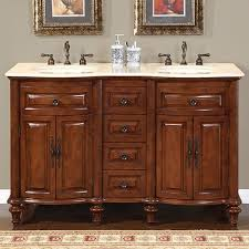 60 double sink bathroom vanity stainless faucet luxury beige