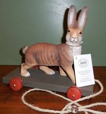 paper mache easter bunny marolin paper mache easter bunny brown vintage style pull