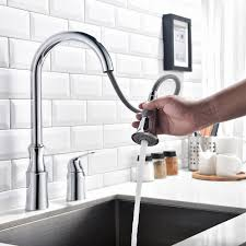 ethan single handle high arc modern widespread kitchen faucet