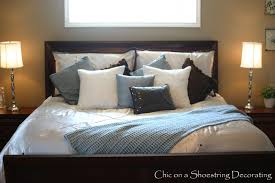King Size Bed In Small Bedroom Chic On A Shoestring Decorating Neutral Master Bedroom Reveal