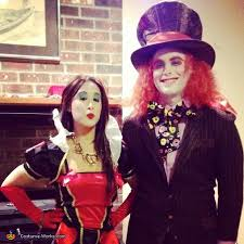 Mad Hatter Halloween Costume Alice Wonderland Mad Hatter Queen Hearts White Rabbit