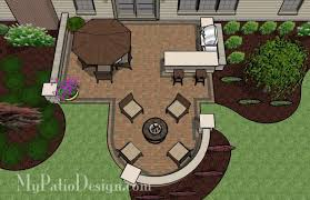 Patio Layout Design Creative Backyard Patio Design With Seating Wall 525 Sq Ft
