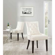 Faux Leather Dining Room Chairs Chair Safavieh Harlow Black Bicast Leather Side Chair Set Of 2