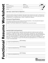 resume worksheet template beautiful resume worksheet template ideas triamterene us