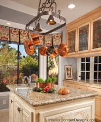Kitchen Island With Hanging Pot Rack Kitchen Island Lighting With Pot Rack Home Design Ideas Within